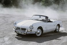 Why we love Spitfires. 'cause you can do THIS in 'em all day long. Release the inner hooligan! 1965 Triumph Spitfire.