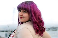 My amazing purple hair faded into 50 shades of pink! <3