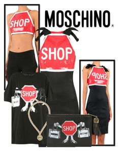 New Moschino Outfit...Shop! by brunarosso-eshop on Polyvore featuring moda and Moschino