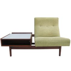 U.S. Tandem Seat and Table with angled magazine shelf, 1950 // designer: Jens Risom