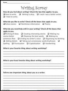 Ginger Snaps: Reading Interest Survey to use at the beginning of ...