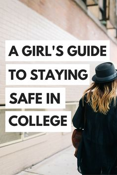 How to stay safe in college -- Safety tips and tricks for college girls! Campus safety is super impo College Girls, College Years, Freshman Year, College Fun, College Basketball, First Day Of College, Freshman Tips, Harvard College, College List