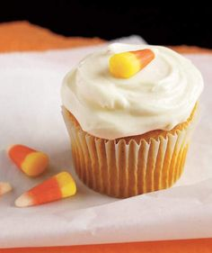 Pumpkin Cupcakes With Cream Cheese Frosting | Amp up boxed cake mix with pumpkin pie spice and pumpkin puree for an easy shortcut dessert that's tastier than most store-bought pumpkin spiced treats (ahem, lattes). The results are moist and sweet but not cloyingly so. In other words, if there are any leftovers, you can get away with enjoying them for breakfast the next morning.