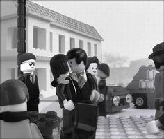 Le baiser de l'Hotel de Ville by Robert Doisneau (1950) - lego version by Marco Pece
