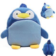 Lovely Penguin baby schoolbag plush backpack school bags kids mochila cartoon design mini bags toy for children Christmas gift