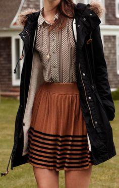 love the top, love the skirt (except I'm old. longer. ha.)