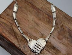 Tangled heart fork necklace by nevastarr on Etsy, $58.95