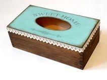 Pudełko na chusteczki Mint&Chocolate