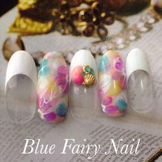 「 ウォーターマーブルジェルネイル♪ 」の画像|吹田市 千里丘 ネイルサロン Blue Fairy Nail|Ameba (アメーバ)