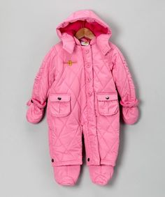 Love this Pink Double-Pocket Snowsuit - Infant on #zulily! #zulilyfinds