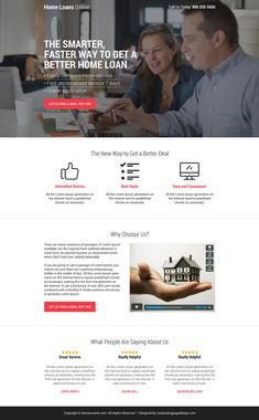home loan deal minimal call to action landing page design Best Home Loans, Real Estate Website Design, Best Landing Page Design, Website Home Page, Wordpress Theme Design, Web Design Services, Home Goods, Design Ideas, Lead Generation