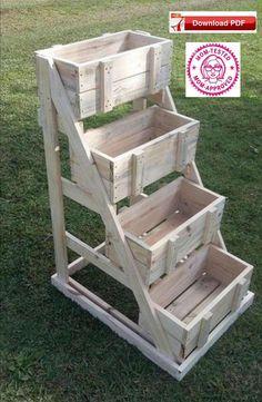 Crate Display Stand Plan/Wood Display Stand Plan/Display Stand Plan/Wood Crate Craft Plan/Craft Crate Plan/Craftshow Tier Stand Plans - All For Garden Wood Crates, Wood Pallets, Milk Crates, 1001 Pallets, Recycled Pallets, Diy Pallet Projects, Pallet Ideas, Pallet Designs, Pallet Crafts