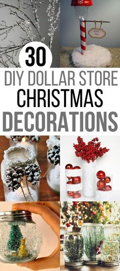 Who doesn't want to decorate their home for the holidays? These DIY Dollar Store home decor ideas will get you festive on a small budget. Dollar Store DIY Christmas Decor and Crafts to make your home look beautiful this Christmas.