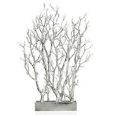Silver Branch Tree In Pot from Z Gallerie Silver Home Accessories, Room Accessories, Stylish Home Decor, White Home Decor, Potted Trees, Trees To Plant, Potted Plants, Home Decor Store, Diy Home Decor