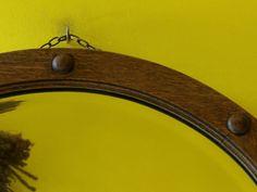 Original Vintage Round Bevel Edge Mirror - Oak Arts and Craft Frame in Home, Furniture & DIY, Home Decor, Mirrors   eBay!
