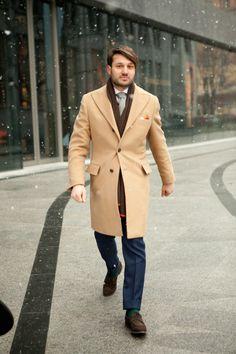 perfect camel coat Maciej Zaremba style lookbook street men fashion