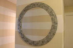 DIY with instructions for this mosaic tiled mirror (way better than the Ikea one that inspired it!)