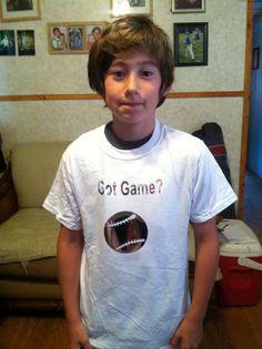 Baseball shirt for boys. Got game?