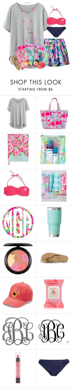 """""""Beach day contest!"""" by livnewell ❤ liked on Polyvore featuring Lilly Pulitzer, MAC Cosmetics, Rainbow, Love This Life, Burt's Bees and Lead"""