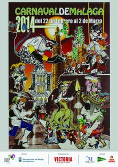 Cartel Carnaval de Malaga 2014