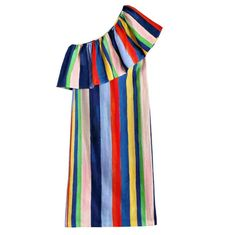 Coveteur Editors Share Their Favorite Summer Dresses: Also considering the seasons don't allow for us to wear them year-round, we will wear these all day, every day until we absolutely have no choice but to cover up. -- Mara hoffman rainbow stripe one shoulder midi     coveteur.com