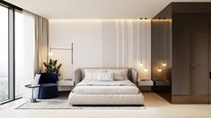 Home Interior And Gifts Taking Black And White Decor From Basic To Bold.Home Interior And Gifts Taking Black And White Decor From Basic To Bold Bedroom Bed Design, Home Bedroom, Bedroom Decor, Bedroom Modern, Ideas Dormitorios, Small Modern Home, White Decor, Modern House Design, Cheap Home Decor