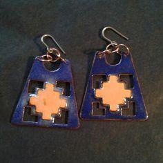 Drop Earrings, Jewelry, Enamels, Copper, Poppies, Jewlery, Bijoux, Jewerly, Jewelery