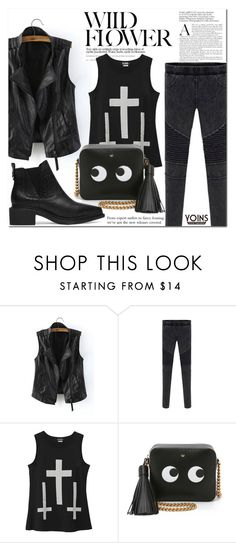 """""""Yoins"""" by never-alone ❤ liked on Polyvore featuring Anya Hindmarch, women's clothing, women, female, woman, misses, juniors, polyvoreeditorial and yoins"""