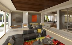 Sol de Mallorca - Villa Deluxe mit traumhaftem Panorama-Meerblick Villa, Modern, Conference Room, Divider, Table, Furniture, Home Decor, Fireplace Living Rooms, Ground Floor