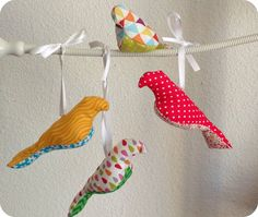 Did someone say fabric scraps? Here's another fun idea to use your scraps from previous projects, this time using the gorgeous bird pattern from Spool. I kept seeing this little birds on baby crib …