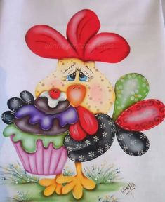 Super country quilting to make fabrics Ideas Colchas Country, Country Quilts, Chicken Quilt, Chicken Art, Tole Painting, Fabric Painting, Pinterest Pinturas, Chickens And Roosters, Country Paintings