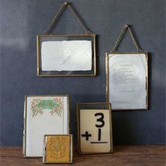 The tasteful construction and vintage style of these Hanging Double Glass Picture Frames makes them perfect for displaying old photos or family documents. The vintage style picture frames measure by and are made of brass. Glass Picture Frames, Picture Frame Sets, Unique Photo Frames, Hanging Picture Frames, Vintage Picture Frames, Vintage Frames, Picture Ideas, Cadre Photo Diy, Photo Frame Ornaments