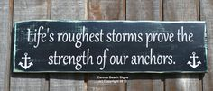 Beach Decor Anchor Theme Lifes Roughest by CarovaBeachCrafts, $38.00