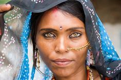 Woman from the desert of Rajasthan, India.