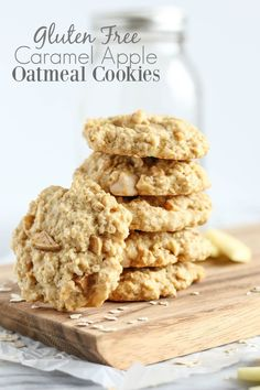 Gluten Free Caramel Apple Oatmeal Cookies - pumpkinandpeanutbutter