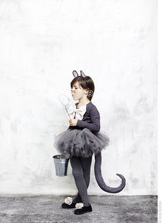 no-sew mouse halloween costume.