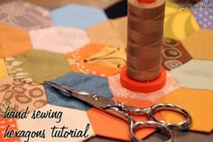 How to Hand Quilt Hexagons | FaveQuilts.com