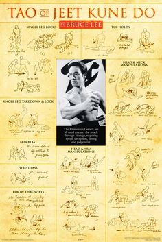 A great Bruce Lee poster! The Dragon's martial arts philosophy - Jeet Kune Do! Check out the rest of our amazing selection of Bruce Lee posters! Bruce Lee Martial Arts, Self Defense Martial Arts, Mixed Martial Arts, Martial Arts Weapons, Kung Fu, Martial Arts Techniques, Self Defense Techniques, Martial Arts Workout, Martial Arts Training