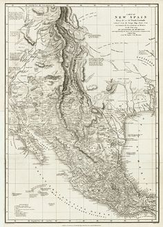 A Map of New Spain….By Alexandre Von Humboldt - Barry Lawrence Ruderman Antique Maps Inc.