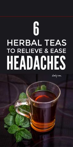 These simple DIY herbal tea remedies can give effective natural headache relief for migraines tension stress sinus and cluster headaches plus menstrual headaches from periods and menopause. Tea For Migraines, Teas For Headaches, Cluster Headaches, How To Relieve Headaches, Natural Headache Relief, Natural Headache Remedies, Migraine Relief, Herbal Remedies, Herbs