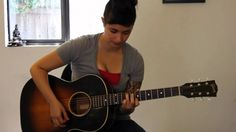 How to play Lucky by Thom Yorke/Radiohead on guitar (live acoustic versi...