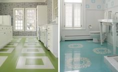 painted floors.  love them.  probably would never paint ours though.