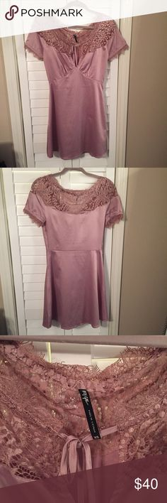 Vintage silky blush dress Only worn once! The dress does have a small snag in it as photographed! Nasty Gal Dresses