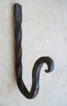10 Handmade Blacksmith Wrought Iron Coat Hat Twisted Hooks Wall Rack Hangers | eBay