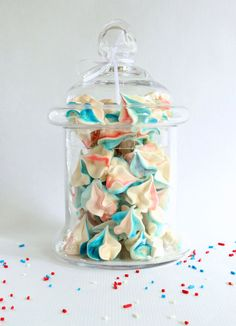 Celebrate the 4th of July with these easy, melt-in-your-mouth meringues! Easy to follow tutorial and recipe!