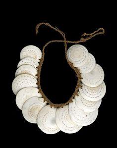 """focus-damnit: """" conus shells (via British Museum - Image gallery: necklace) """""""