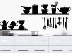 vinilos para pared de cocina - Buscar con Google