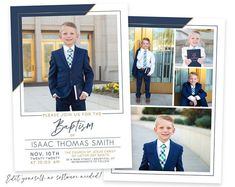 DIGITAL DESIGNS FOR PRINT by PinkHeartDesignShop on Etsy Baptism Program, Baptism Announcement, Christening Invitations Boy, Baptism Pictures, Christmas Card Template, Boy Baptism, Graduation Announcements, Lds, Heart Designs