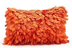Another fun outdoor pillow! Outdoor Fun, Outdoor Ideas, Toss Pillows, Pillow Talk, Creative Decor, My Favorite Color, Orange Color, Decorative Pillows, Outdoor Pillow