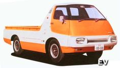 Japanese Concept Cars: Part 2 — 95 Customs Nissan Diesel, Nissan Trucks, Electric Pickup Truck, Electric Cars, Electric Vehicle, Ev Truck, Car Dates, Small Pickups, Cars Motorcycles